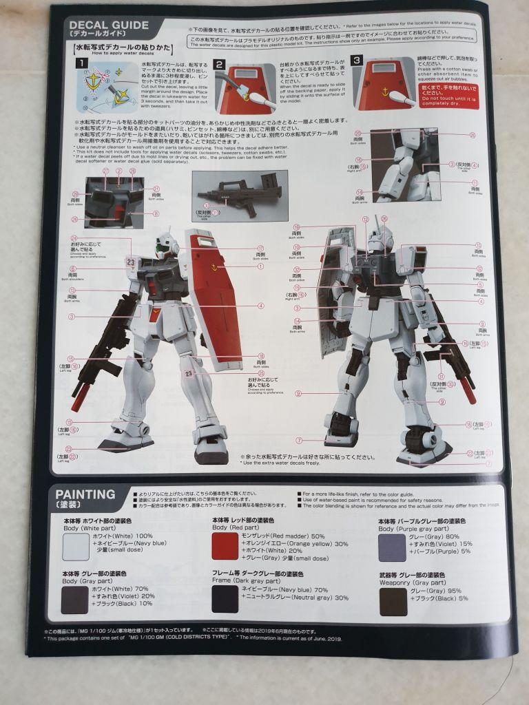 MG 1//100 RGM-79D GM Cold Districts Type MODEL KIT Premium Bandai STOCK PB